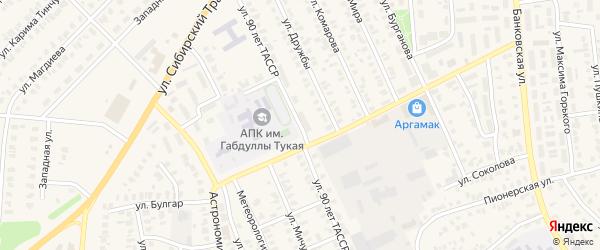 Улица 90 лет ТАССР на карте Арска с номерами домов