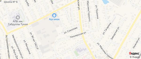 Улица Соколова на карте Арска с номерами домов