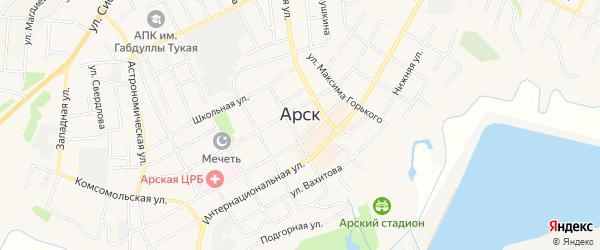 Территория КП Дуслык на карте Арска с номерами домов