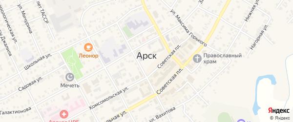 Улица М.Лотфуллина на карте Арска с номерами домов