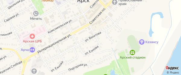 Улица Вахитова на карте Арска с номерами домов