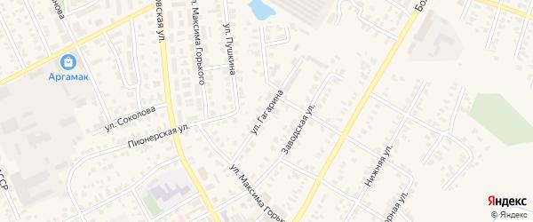 Улица Гагарина на карте Арска с номерами домов