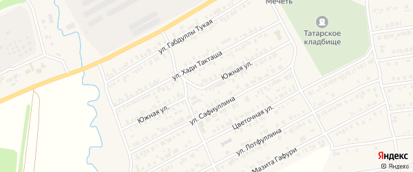 Южная улица на карте Арска с номерами домов