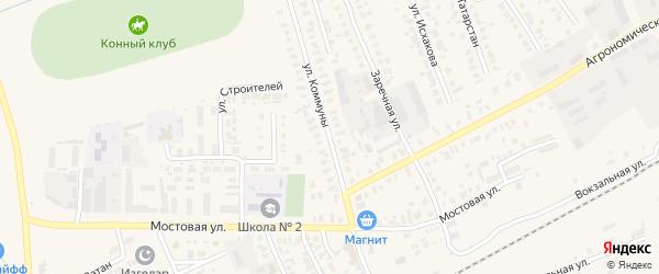 Улица Коммуны на карте Арска с номерами домов