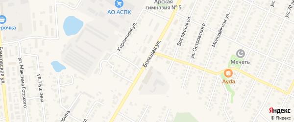 Большая улица на карте Арска с номерами домов