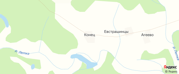 Карта деревни Конца в Кировской области с улицами и номерами домов