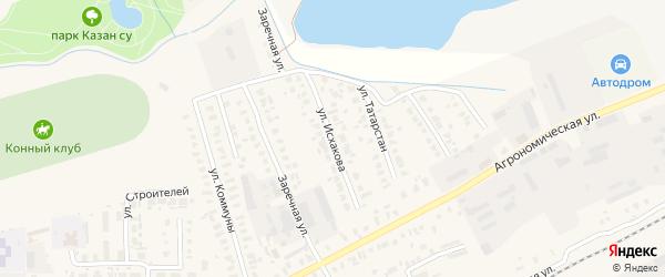 Улица Исхакова на карте Арска с номерами домов