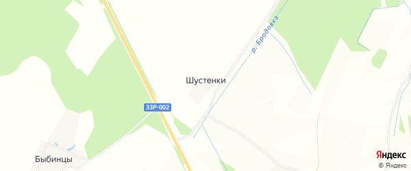 Карта деревни Шустенки в Кировской области с улицами и номерами домов