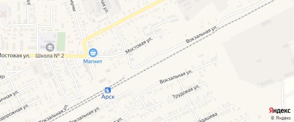 Вокзальная улица на карте Арска с номерами домов