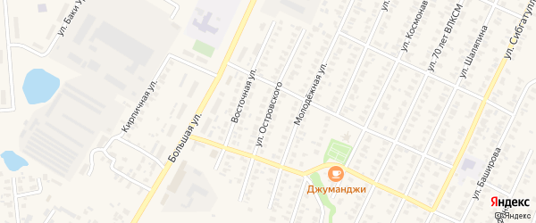 Улица Островского на карте Арска с номерами домов