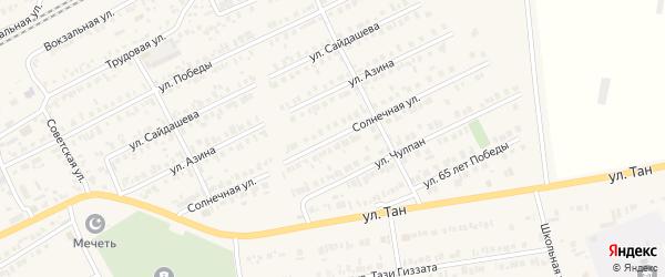 Солнечная улица на карте Арска с номерами домов