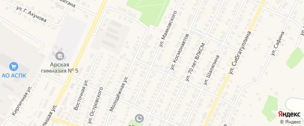 Улица Маяковского на карте Арска с номерами домов