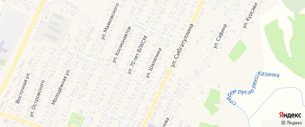 Улица Шаляпина на карте Арска с номерами домов