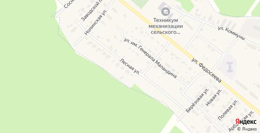Лесная улица в Нолинске с номерами домов на карте. Спутник и схема онлайн