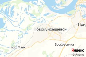 Карта г. Новокуйбышевск Самарская область