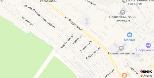 Новая улица в Нолинске с номерами домов на карте. Спутник и схема онлайн