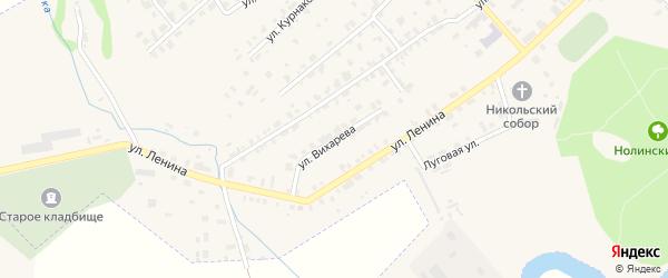 Улица Вихарева на карте Нолинска с номерами домов