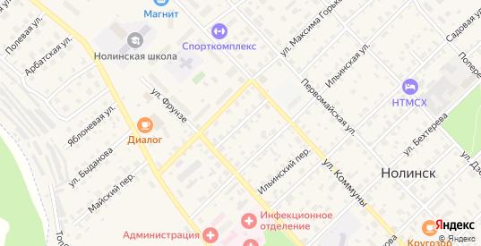 Переулок М.Горького в Нолинске с номерами домов на карте. Спутник и схема онлайн