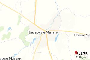 Карта с. Базарные Матаки Республика Татарстан