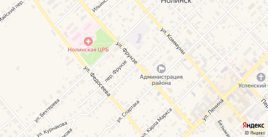 Улица Курнакова в Нолинске с номерами домов на карте. Спутник и схема онлайн