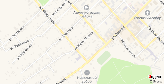 Улица К.Маркса в Нолинске с номерами домов на карте. Спутник и схема онлайн