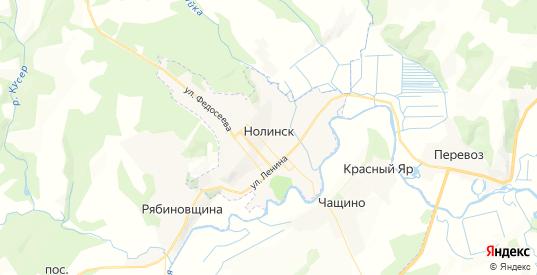 Карта Нолинска с улицами и домами подробная. Показать со спутника номера домов онлайн