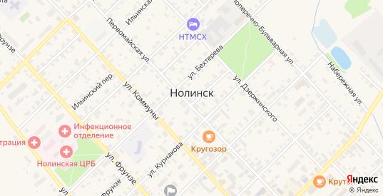 Территория гк Полигон СПТ-35 в Нолинске с номерами домов на карте. Спутник и схема онлайн