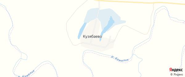 Карта деревни Кузябаево в Саратовской области с улицами и номерами домов