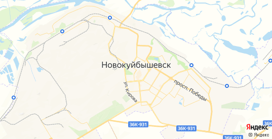 Карта Новокуйбышевска с улицами и домами подробная. Показать со спутника номера домов онлайн