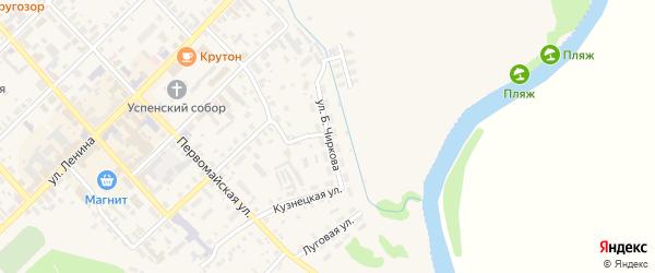 Территория гк Б.Чиркова на карте Нолинска с номерами домов