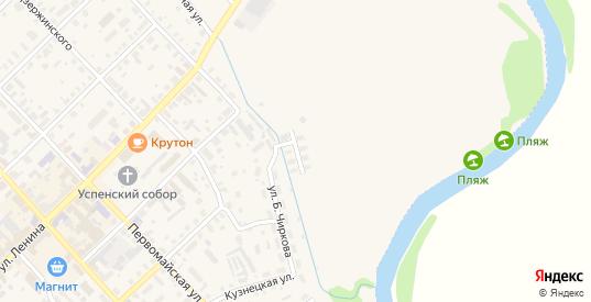 Заречная улица в Нолинске с номерами домов на карте. Спутник и схема онлайн