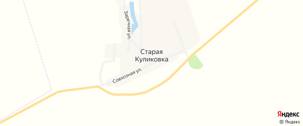 Карта села Старой Куликовки в Ульяновской области с улицами и номерами домов