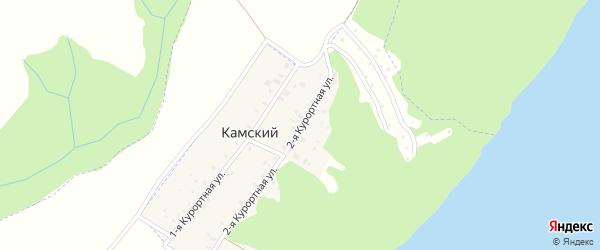 Улица Курортная-2 на карте Камского поселка Татарстана с номерами домов
