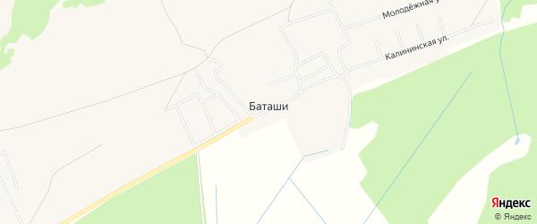 Карта деревни Баташи в Кировской области с улицами и номерами домов
