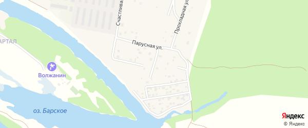 Заволжская улица на карте поселка Власти Труда Самарской области с номерами домов