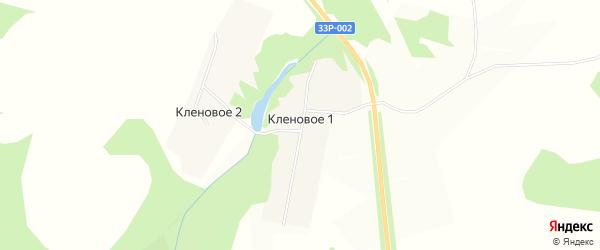 Карта деревни Кленового 1 в Кировской области с улицами и номерами домов