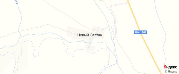 Карта деревни Нового Салтана в Татарстане с улицами и номерами домов
