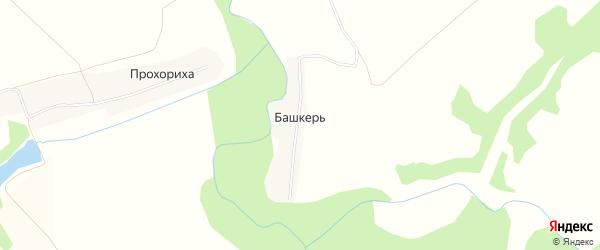 Карта деревни Башкери в Кировской области с улицами и номерами домов