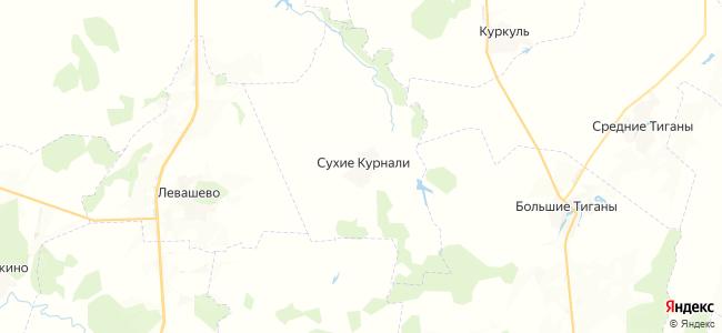 Сухие Курнали на карте