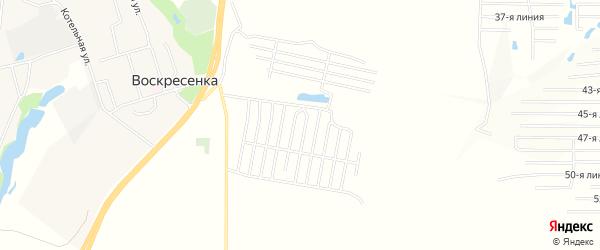 Карта деревни Массива Молодой Гвардии в Самарской области с улицами и номерами домов