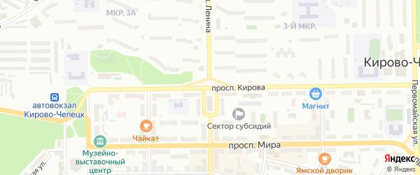 Территория гк д-23 на карте Кирово-Чепецка с номерами домов