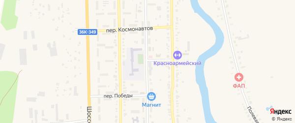 Зерновой переулок на карте Красноармейского села Самарской области с номерами домов