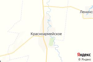 Карта с. Красноармейское Самарская область