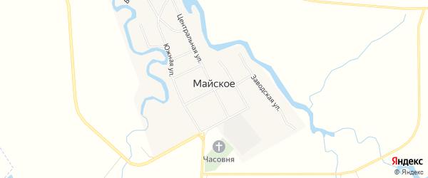 Карта Майского села в Самарской области с улицами и номерами домов