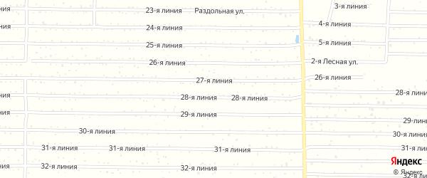 6-я линия на карте территории СТ Жигулевского пивкомбината Самарской области с номерами домов