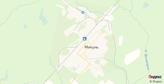 Карта Микуня с улицами и домами подробная. Показать со спутника номера домов онлайн