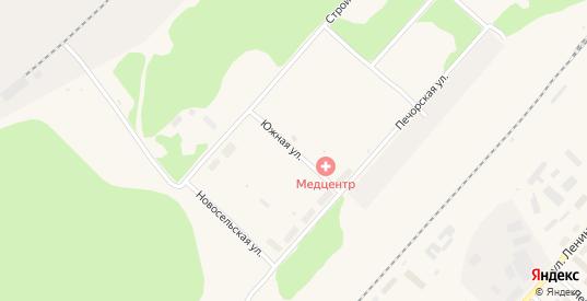 Южная улица в Микуне с номерами домов на карте. Спутник и схема онлайн