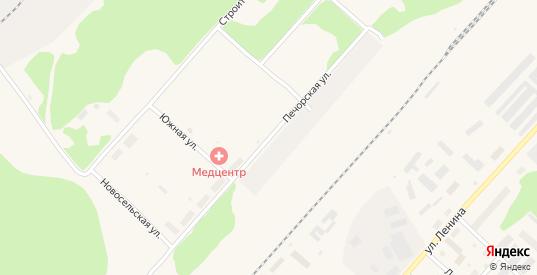 Печорская улица в Микуне с номерами домов на карте. Спутник и схема онлайн