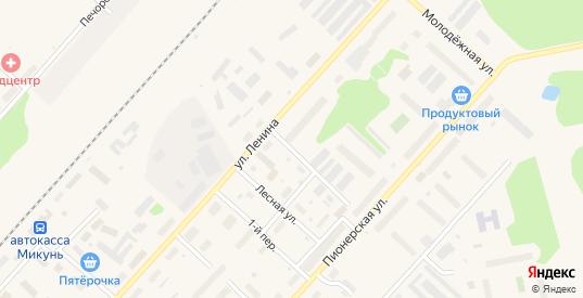 Малая Лесная улица в Микуне с номерами домов на карте. Спутник и схема онлайн