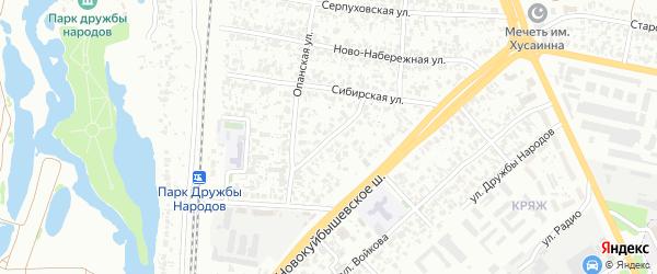 Улица Возрождения на карте Самары с номерами домов